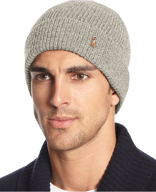 338604112 Polo Ralph Lauren Signature Merino Cuff Hat   Reviews - Hats ...