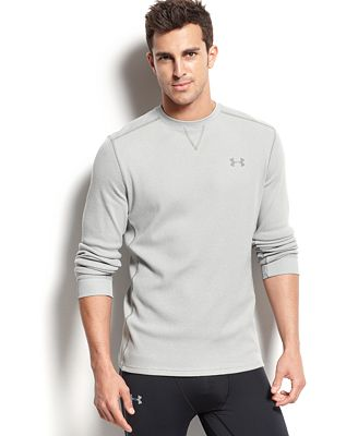 Under Armour Men's Amplify Long-Sleeve Thermal T-Shirt - T-Shirts ...