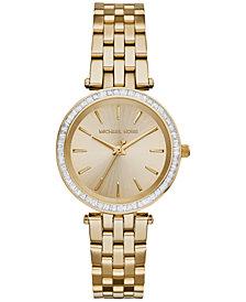 Michael Kors Women's Mini Darci Gold-Tone Stainless Steel Bracelet Watch 33mm MK3365