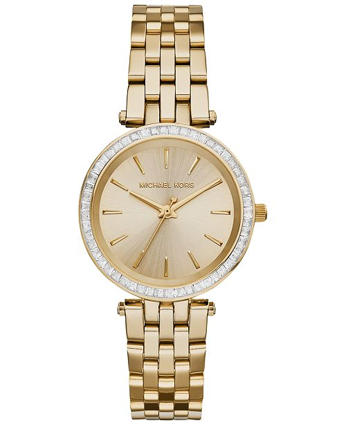 ac8c758f9211 ... Michael Kors Women s Mini Darci Gold-Tone Stainless Steel Bracelet Watch  33mm MK3365 ...