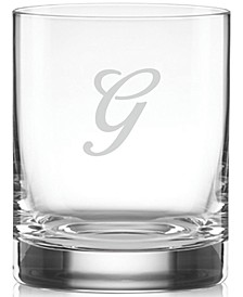 Tuscany Monogram Double Old Fashioned Glasses, Set of 4, Script Letters