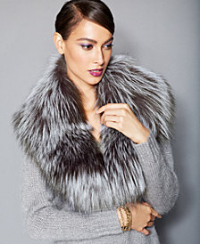 The Fur Vault Silver Fox Fur Collar