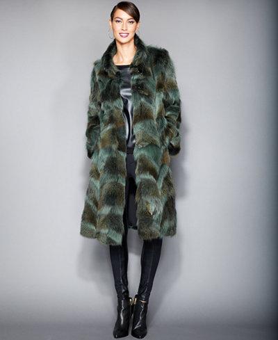 The Fur Vault Plus Size Coyote-Fur Coat - The Fur Vault - Women ...