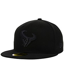 Houston Texans NFL Black on Black 59FIFTY Fitted Cap