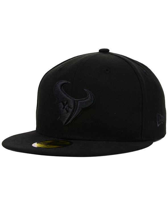 New Era Houston Texans NFL Black on Black 59FIFTY Fitted Cap