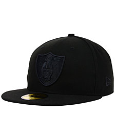 New Era Oakland Raiders NFL Black on Black 59FIFTY Fitted Cap