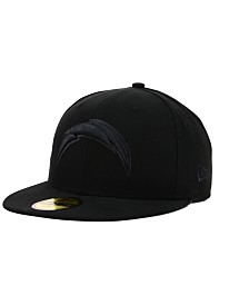 New Era San Diego Chargers NFL Black on Black 59FIFTY Fitted Cap