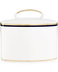 kate spade new york Library Lane Navy Sugar Bowl With Lid