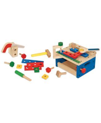 Melissa and Doug Kids' Hammer & Saw Tool Bench Set