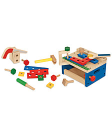 Melissa and Doug Kids' Hammer & Saw Tool Bench Set