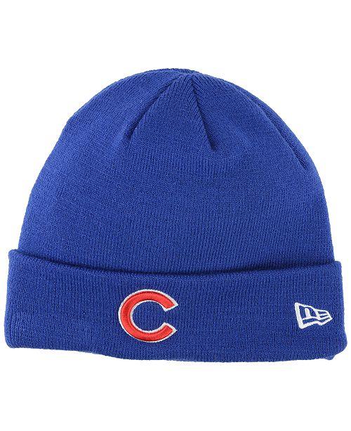 New Era Chicago Cubs Basic Cuffed Knit Hat