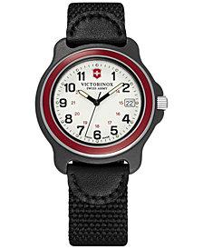 Victorinox Swiss Army Men's Original Black Nylon Strap Watch 39mm 249088