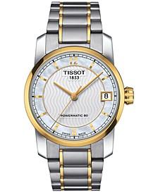 Women's Swiss Automatic T-Classic Two-Tone Titanium Bracelet Watch 32mm T0872075511700
