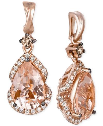 Le Vian Peach Morganite 2 3 8 Ct T W And Diamond