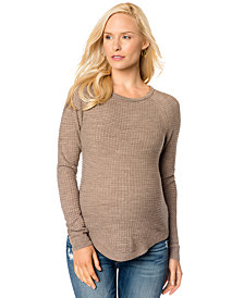 A Pea In The Pod Maternity Long-Sleeve Pointelle-Knit Sweater