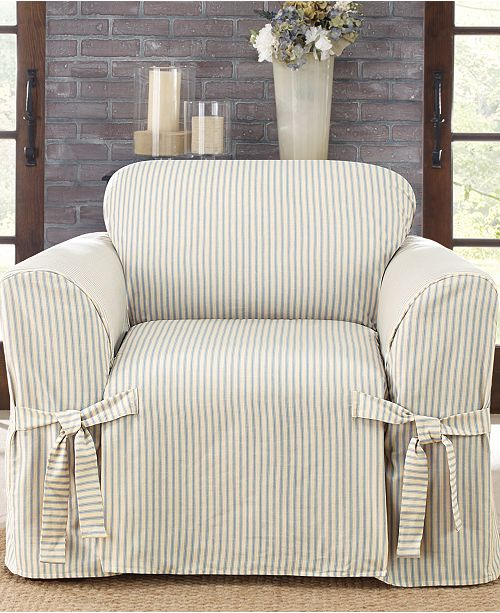 Ticking Stripe Slipcover Collection