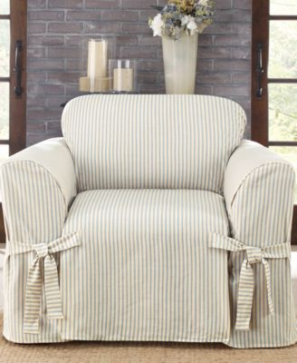 sure fit ticking stripe slipcover collection