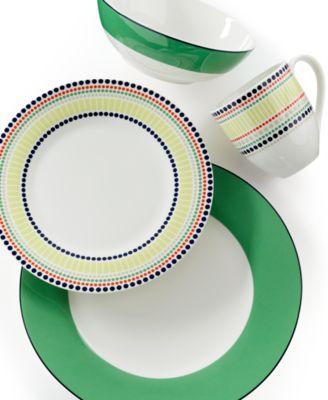 main image  sc 1 st  Macyu0027s & kate spade new york Dinnerware Hopscotch Drive Green Collection ...