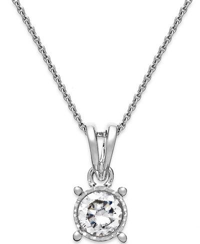 Trumiracle diamond bezel pendant necklace in 14k white gold 14 ct trumiracle diamond bezel pendant necklace in 14k white gold 14 ct aloadofball Choice Image