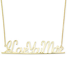 "SIS by Simone I. Smith ""I Love You More"" Pendant Necklace in 18k Gold over Sterling Silver"