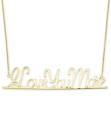 "Simone I. Smith ""I Love You More"" Pendant Necklace in 18k Gold over Sterling Silver"