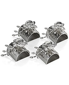 White Orchid Set of 4 Napkin Rings