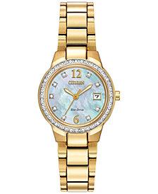 Citizen Women's Eco-Drive Silhouette Gold-Tone Stainless Steel Bracelet Watch 26mm EW1992-52D - A Macy's Exclusive