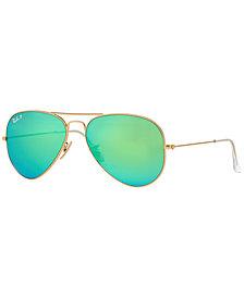 Ray-Ban Sunglasses, RB3025 55 ORIGINAL AVIATOR MIRRORED