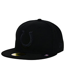 New Era Indianapolis Colts Black on Black 59FIFTY Fitted Cap