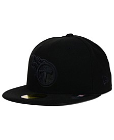 Tennessee Titans NFL Black on Black 59FIFTY Fitted Cap