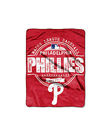Northwest Company Philadelphia Phillies Micro Raschel Structure Blanket