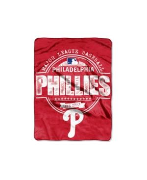 Northwest Company Philadelphia Phillies Micro Raschel Structure Blanket