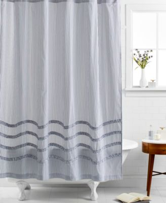 Martha Stewart Collection Ruffle Shower Curtain   Shower Curtains   Bed U0026  Bath   Macyu0027s