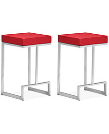 Tyson Set of 2 Counter Stools, Quick Ship