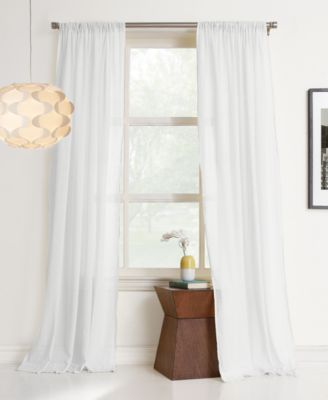 "Cera 100% Cotton 50"" x 63"" Sheer Curtain Panel"