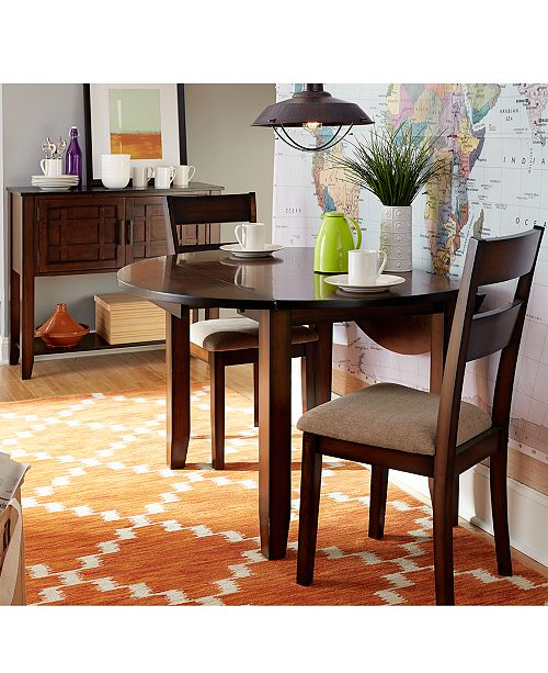 Branton Drop Leaf Round Dining Room Furniture Collection, Created for Macy\'s