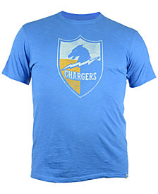 '47 Brand Men's Los Angeles Chargers Retro Logo Scrum T-Shirt