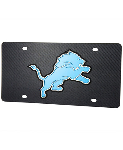 Stockdale Detroit Lions Carbon License Plate