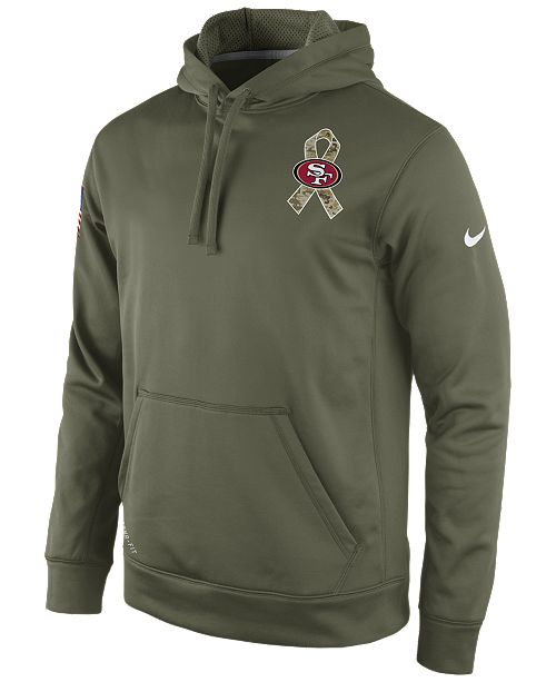 Nike Men s San Francisco 49ers Salute to Service KO Hoodie - Sports ... 769142e6c