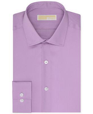 Michael michael kors men 39 s slim fit non iron solid dress for Non iron slim fit dress shirts