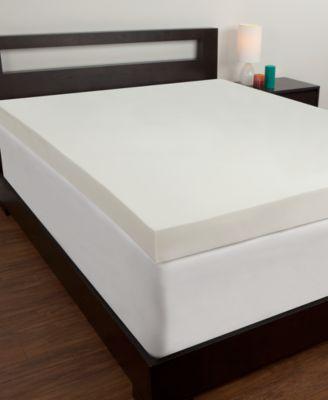 comfort revolution 4u0027u0027 memory foam mattress toppers