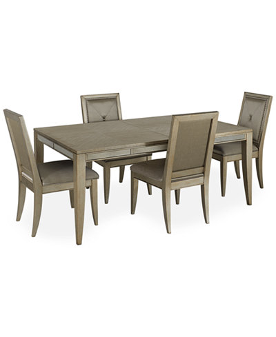 Ailey 5 Piece Dining Room Furniture Set (Dining Table and 4 Side ...