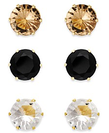 Thalia Sodi Stone Stud Earring Trio, Created for Macy's