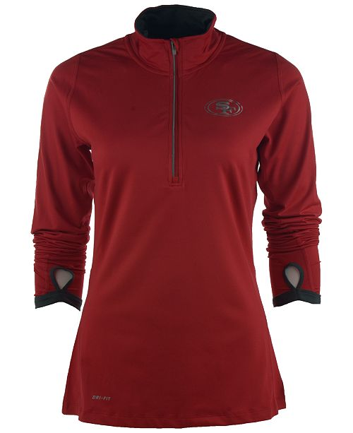 9f95a0d63 Nike Women s San Francisco 49ers Element Half-Zip Pullover - Sports ...