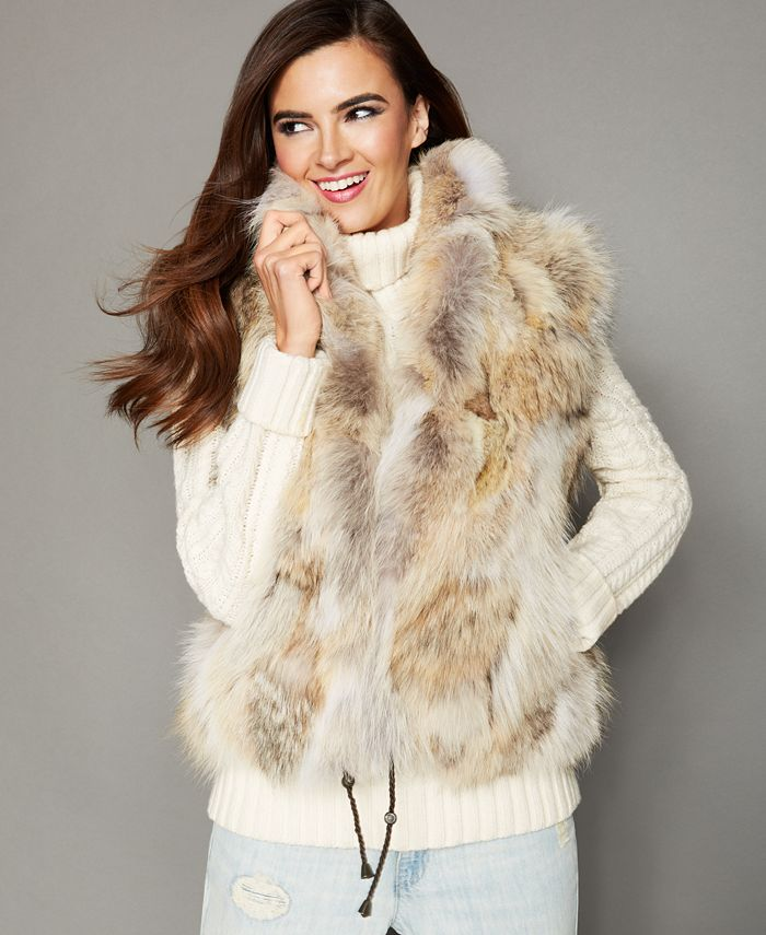 The Fur Vault - Genuine Natural Coyote Fur Vest