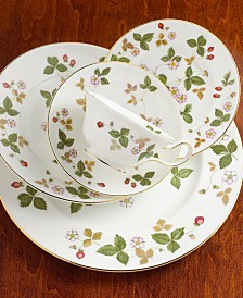 "Wedgwood ""Wild Strawberry"" Salad/Dessert Plate, 8"""
