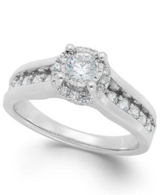 14K GOLD /& SS DIAMOND ENGAGEMENT WEDDING BAND RING SZ 5 REG IN STORE FOR BONUS!