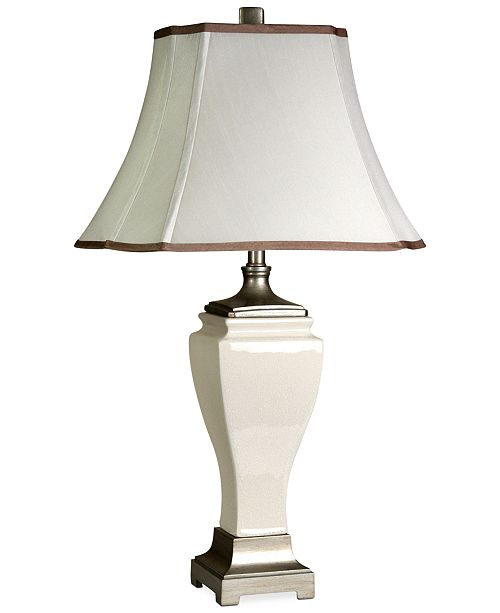 StyleCraft Crackled Ceramic Table Lamp