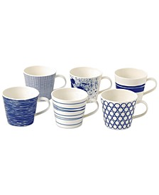 Pacific Accent Mugs, Set of 6