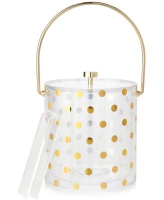 Gold Dots Acrylic Ice Bucket